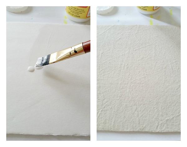 seashell wall art painter's cloth