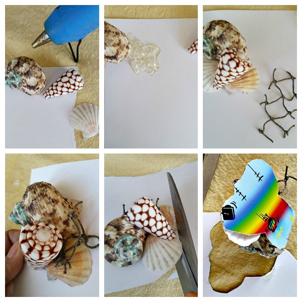 Gluing Sea Shells