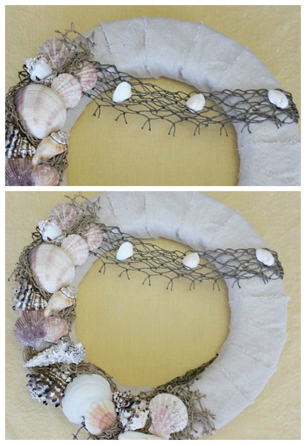 Netting-sea-shell-wreath