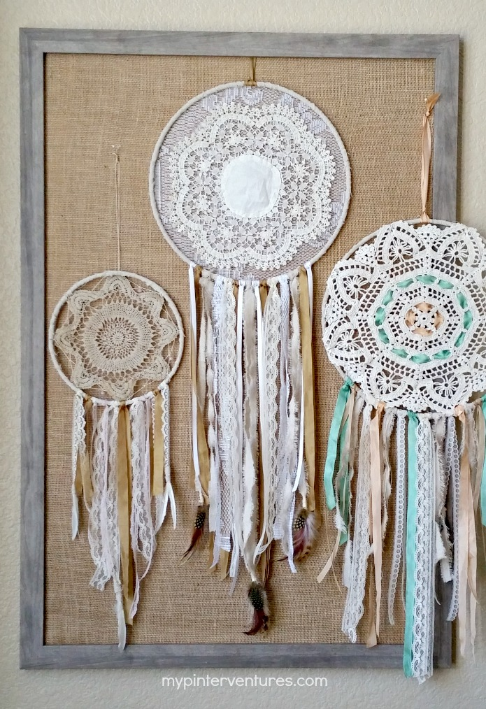 Vintage Doily Bohemian Dream Catcher