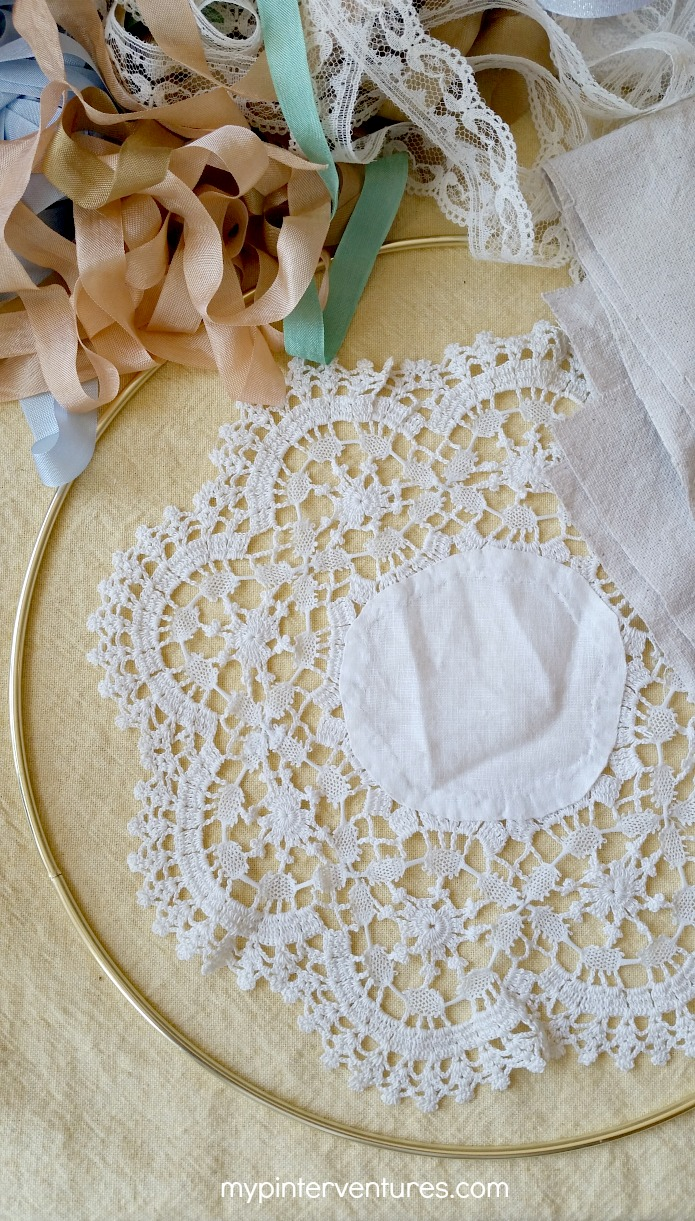 Vintage Doily Bohemian Dream Catcher Supplies