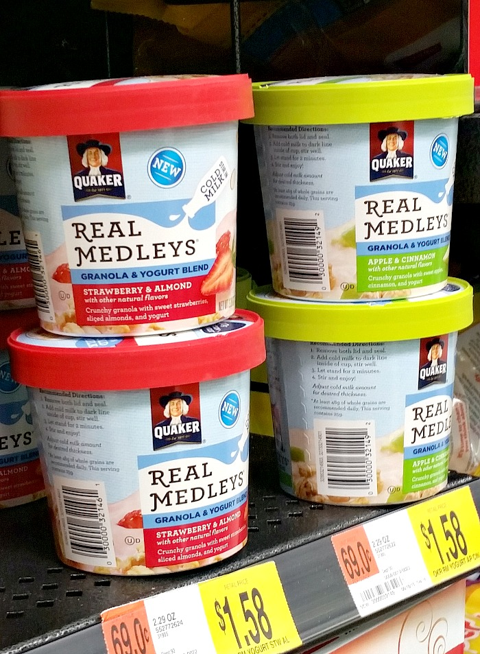 Quaker Real Medleys Yogurt Cups