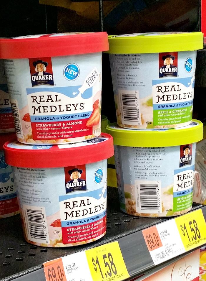 Quaker Real Medleys Yogurt Cups