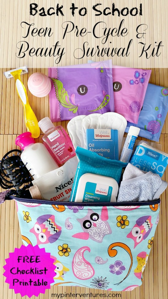 Back to School Teen Pre-cycle & Beauty Kit with FREE Printable