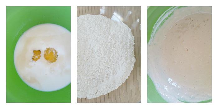 Combine waffle ingredients