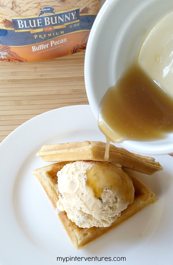 Maple Butter Syrup over waffle & ice cream