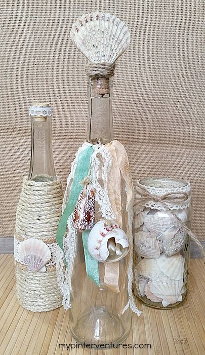 Boho Seashell Bottle