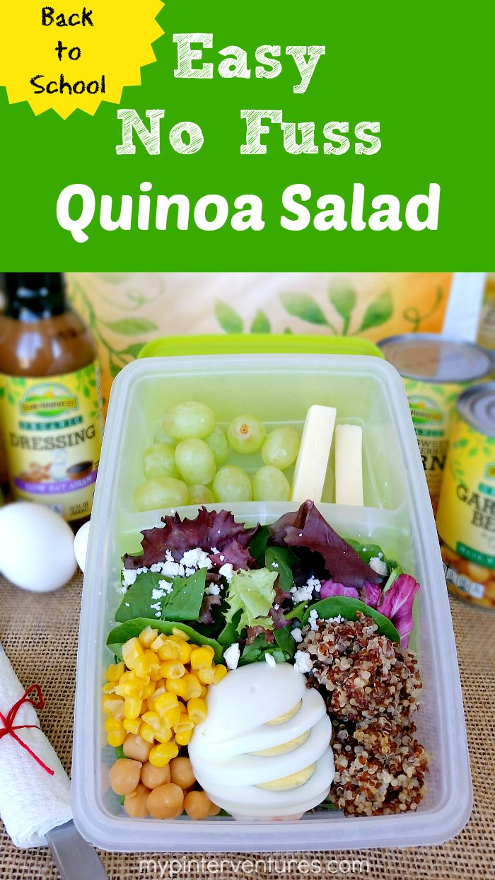 Back to School Easy No Fuss Quinoa Salad Recipe