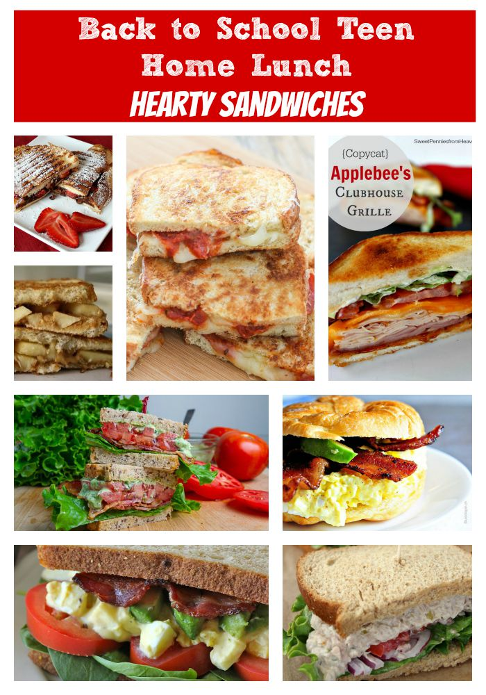 Back to School Teen Home Lunch - Hearty Sandwiches