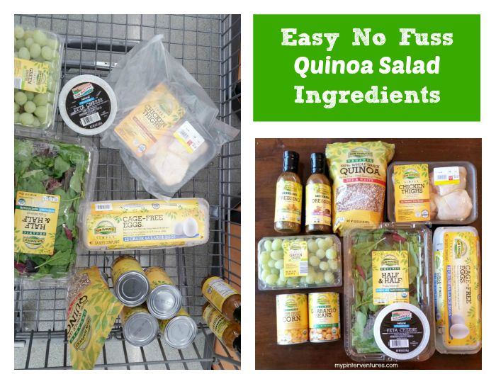 Easy No Fuss Quinoa Salad Ingredients