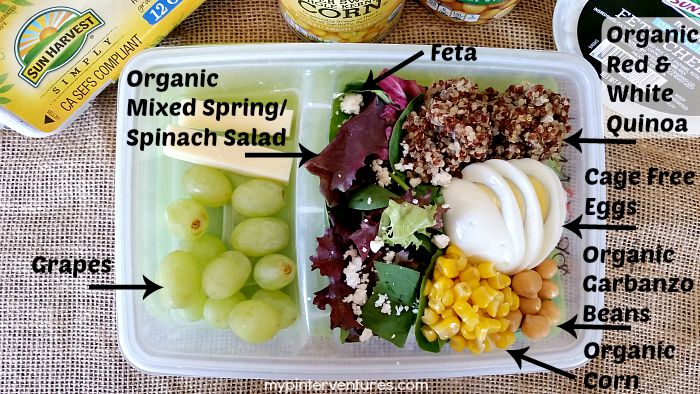 Easy No Fuss Quinoa Salad Lunch Box