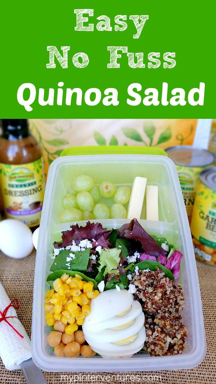 Easy No Fuss Quinoa Salad Recipe