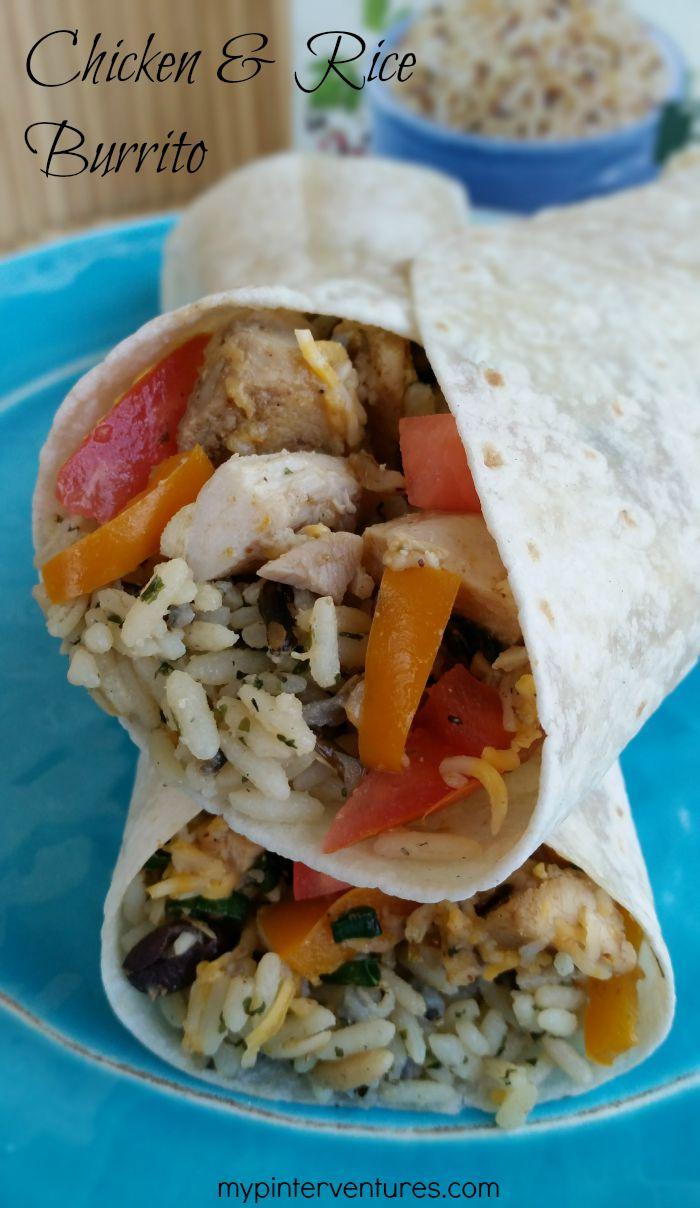Chicken & Rice Burrito Recipe