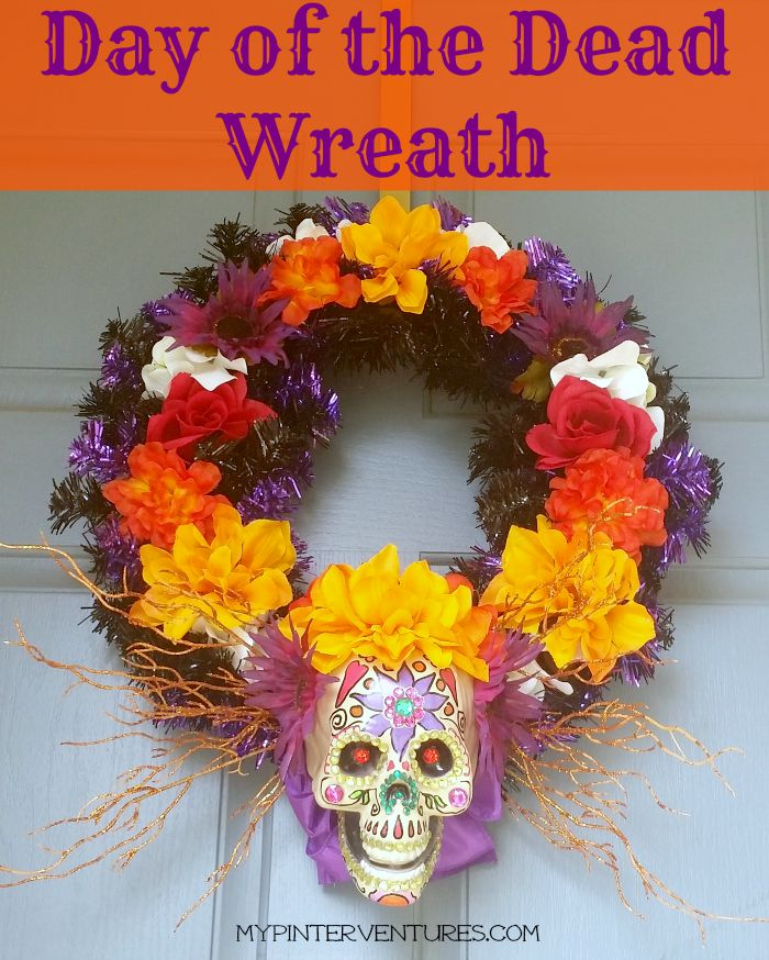Day of the Dead of Wreath