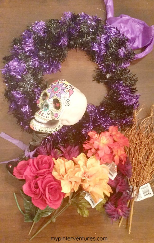 Day of the Dead Wreath supplies