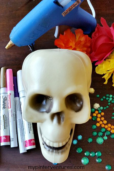Dollar Tree Sugar Skull Supplies