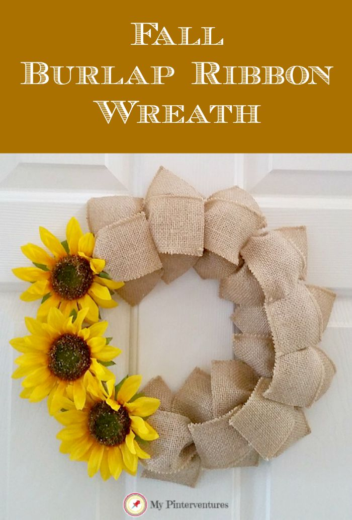 Fall Ribbon Burlap Wreath