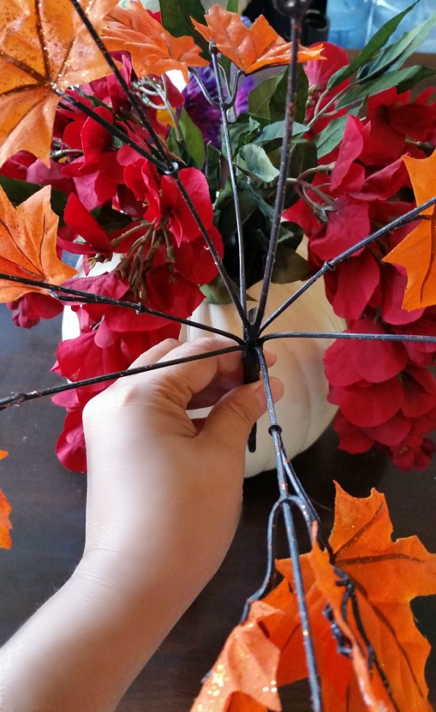 Floral stems for the Halloween Floral Centerpiece