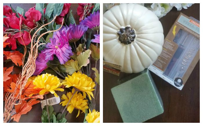 Halloween Floral Centerpiece supplies