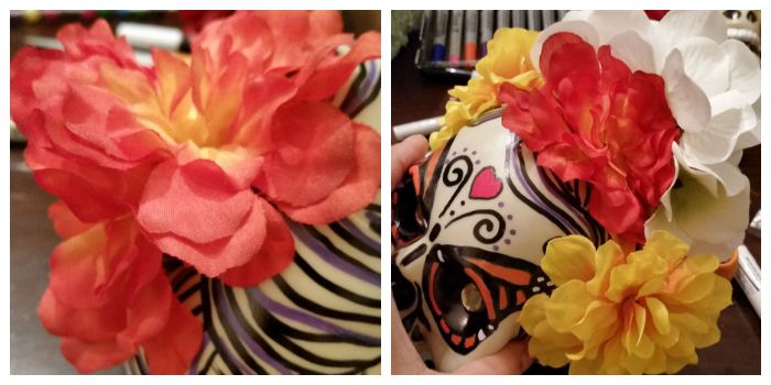 Sugar skull flower crown