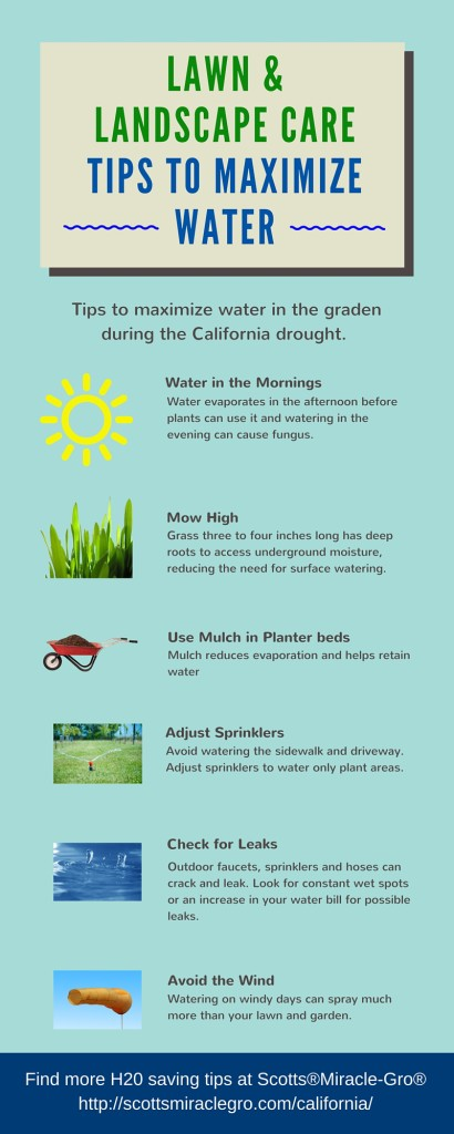 Tips to maximize water during the California Drought