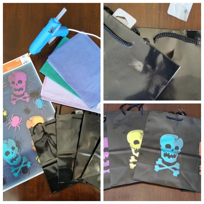 Widow Cling Halloween Treat Bags