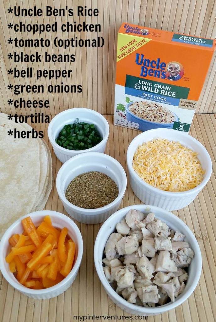 Chicken & Rice Burrito ingredients