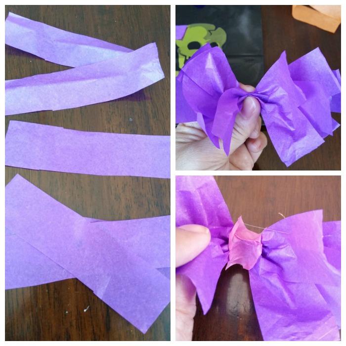 tissue bow tie