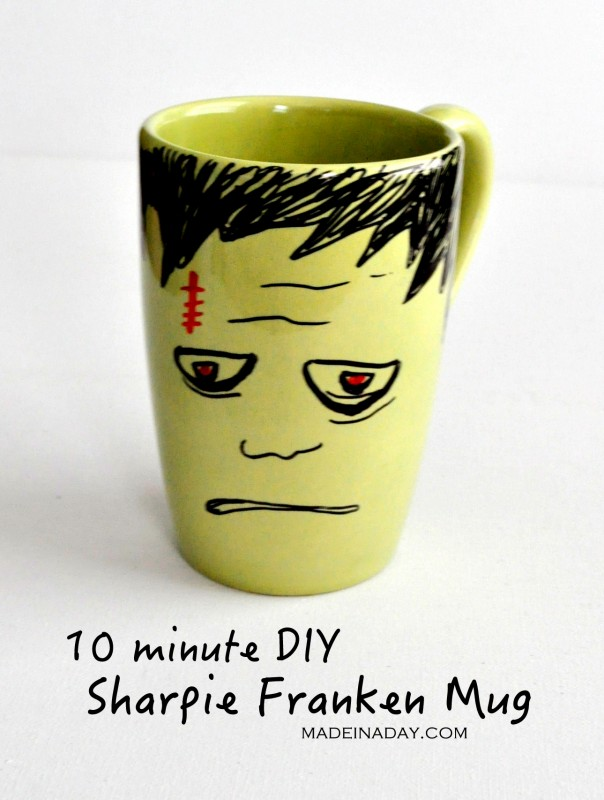 DIY Frankenstein Sharpie Mug