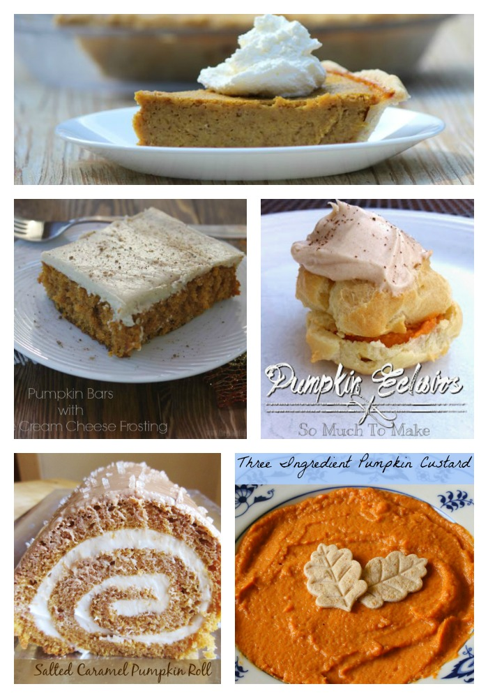 There were so many great fall pumpkin desserts last week! Here are ...