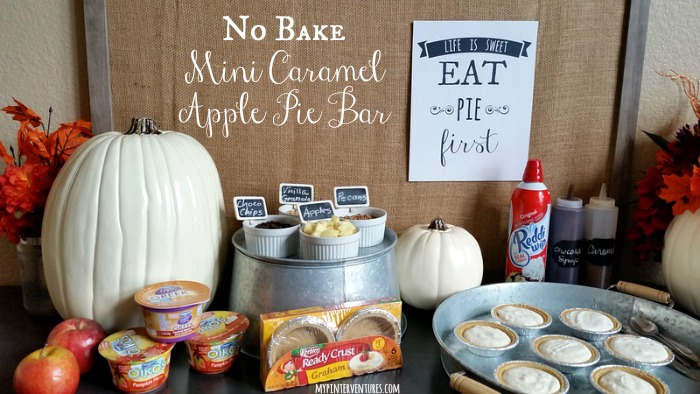 No-Bake Mini Caramel Apple Pie Bar