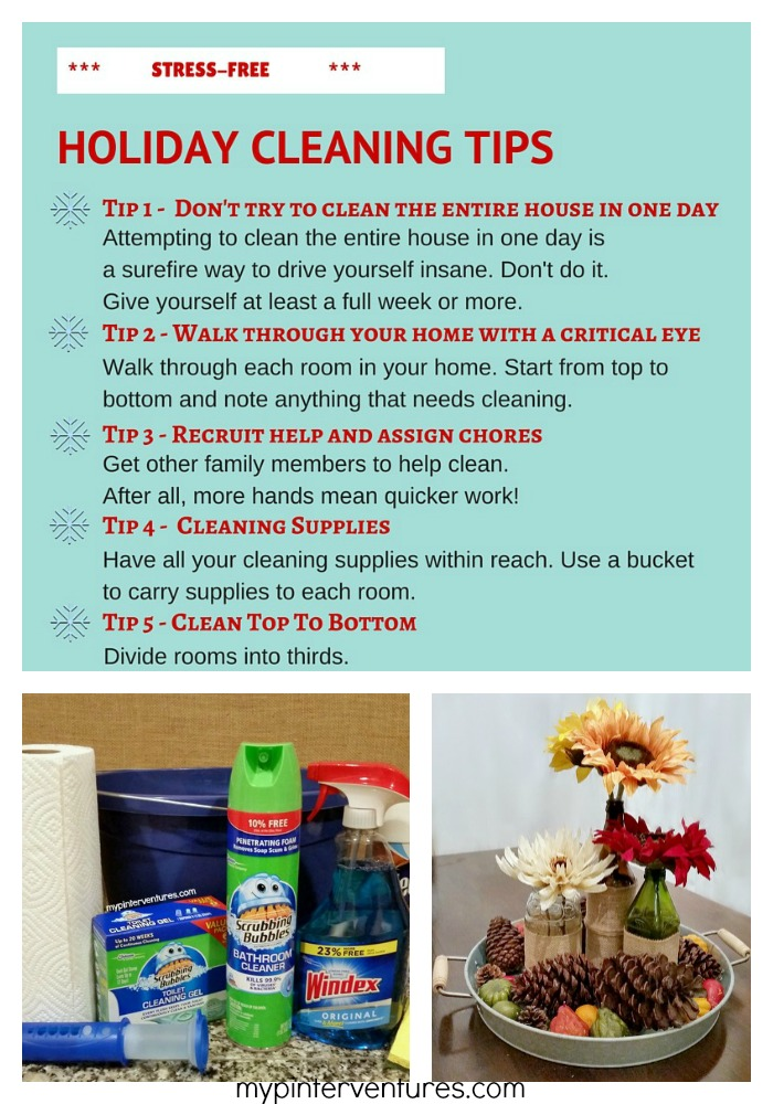 Stress-free Holiday Cleaning Tips and Fall Centerpiece