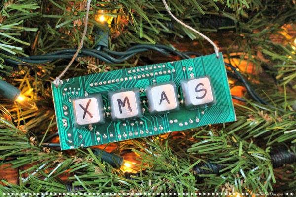 Computer parts ornament