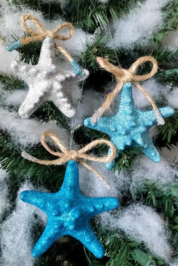 Coastal Glitter Starfish Ornaments Ornament Exchange