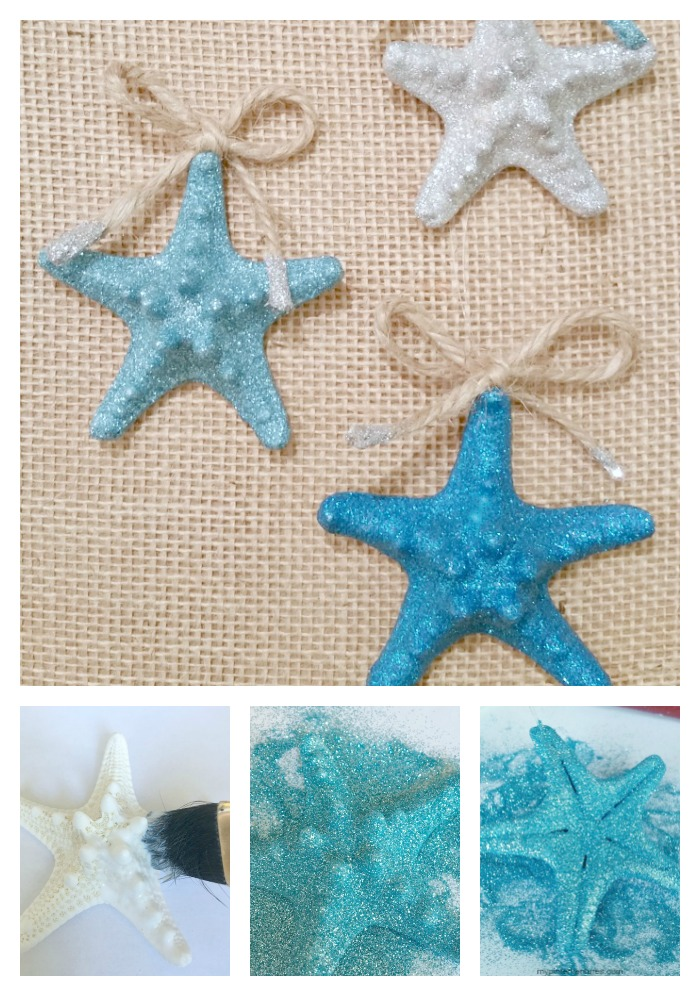 Coastal Glitter Starfish Ornament
