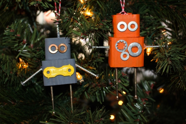 DIY Robot Christmas Ornaments