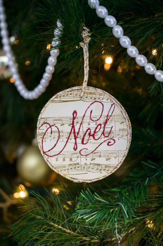 DIY Custom Paper and Wood Ornament