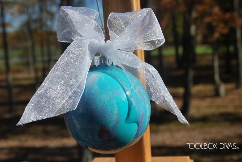 DIY Marbled Ornament