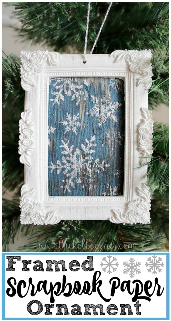 Framed Scrapbook Paper Ornament