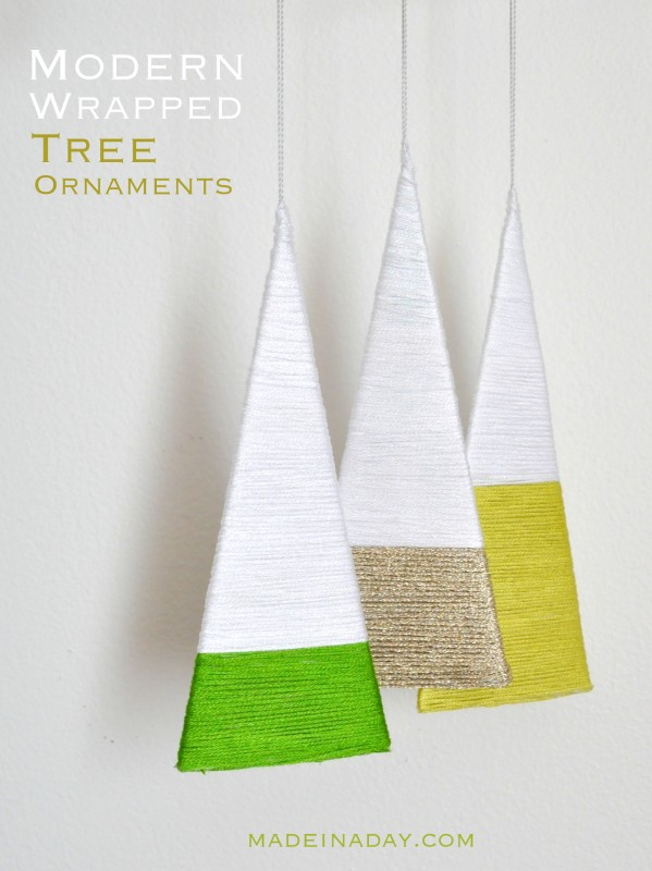 Modern Wrapped Tree Ornament