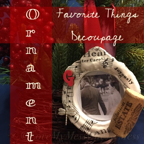 Favorite Things Decoupage Ornament