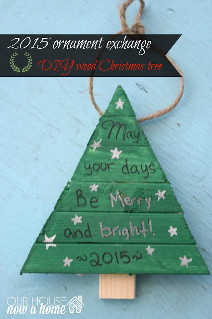 DIY Wood Christmas Tree Ornament