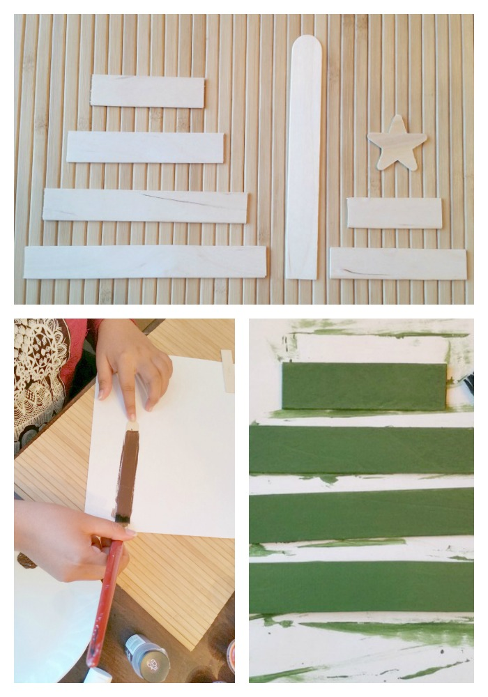 Paint popsicle sticks