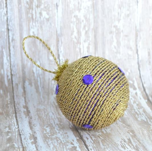 Purple and Gold DiY Ornament