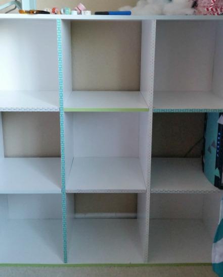 washi tape cube shelf