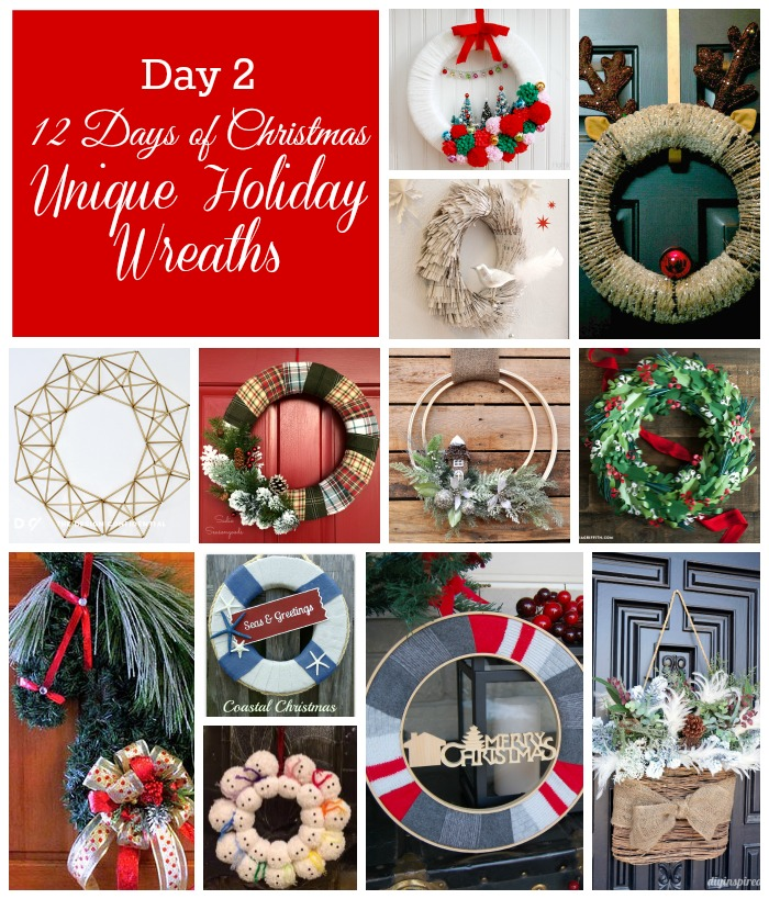 12 Days of Christmas - 12 Unique Holiday Wreaths