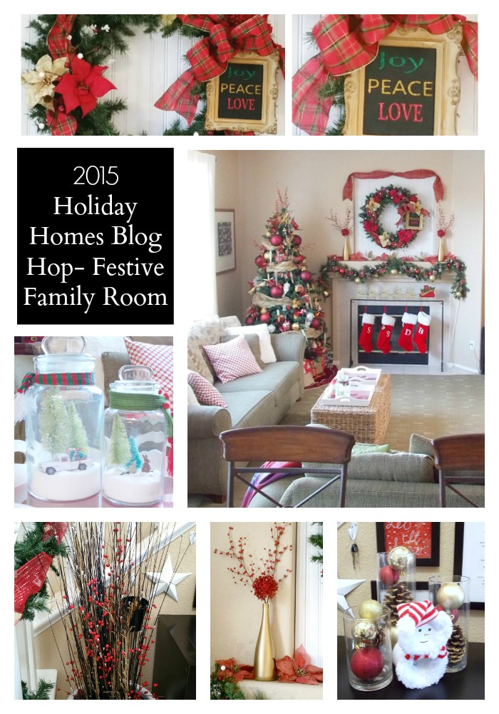 2015 Holiday Homes Blog Hop - Festive Family Room