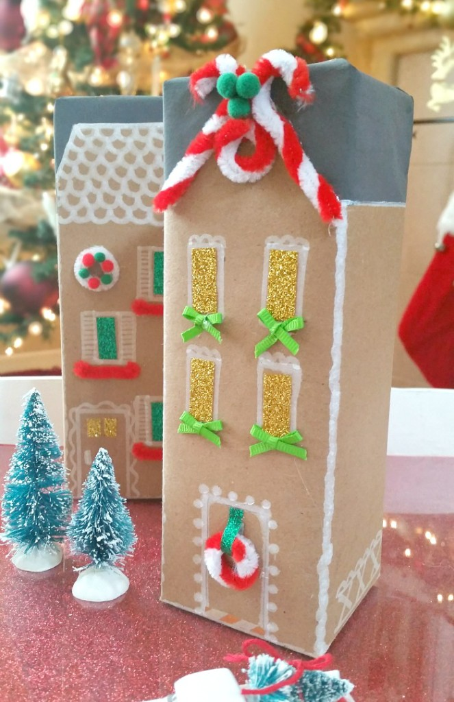 Gingerbread Cookie Box Houses #GiftDeliciously