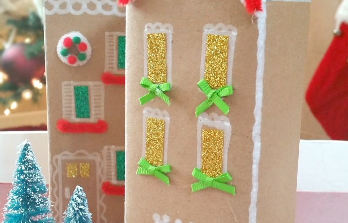 How to Make a Gingerbread & Chalkboard Cookie Box Houses