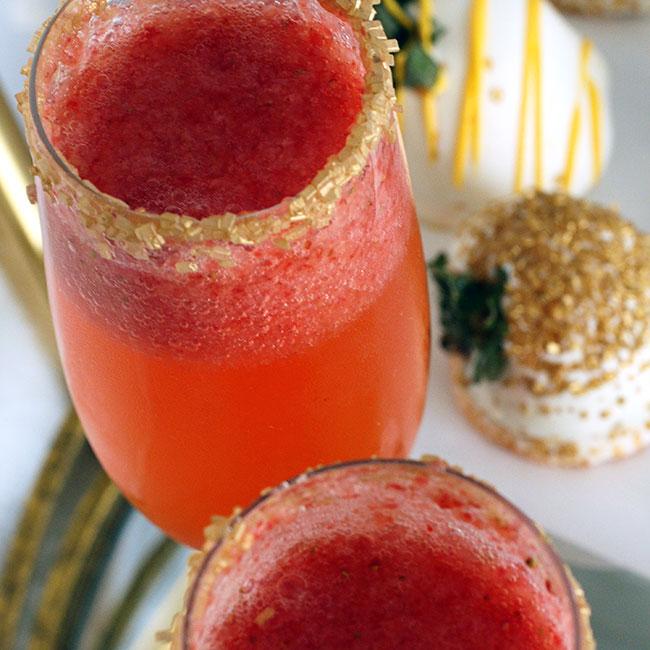 Glitzy Strawberry Champagne